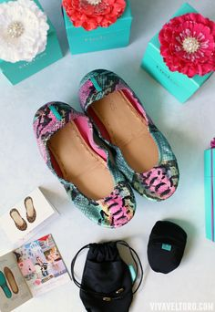 Tieks ballet flats in Electric Snake. It's LOVE!