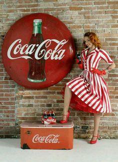 Vintage Coca~Cola pin-up, photography- John Eaton