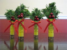 Yellow 20 ga Shotgun Shell Ornaments  Set of 4 by SimplePlan, $14.00