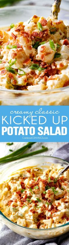 Kicked Up Classic Creamy Potato Salad - Everyone needs the BEST potato salad recipe and this is it! so creamy and flavorful and disappears in minutes whenever I take it any where - everyone always asks for the recipe!!