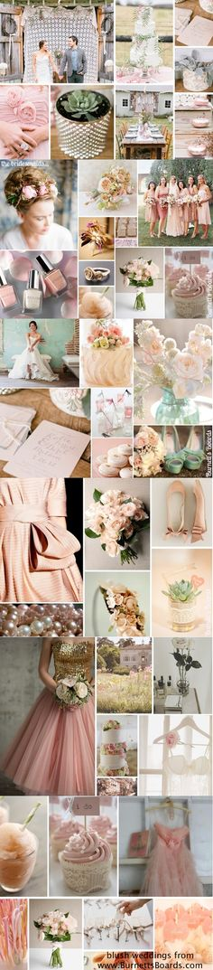 "blush wedding inspiration coordinates with the ""Sali"" line by FoxgLove Finery. https://www.etsy.com/listing/125838460/the-sali-fabric-bouquet-antique-pink"