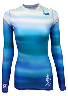 Fuji Sports Haiku Women's Rash Guard - Blue #2401 - Women - BJJ