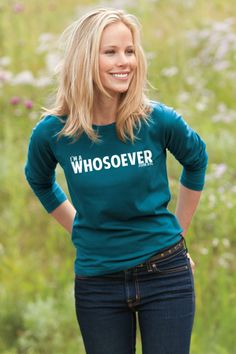 """I'm a WHOSOEVER - Women's Christian T-Shirt - Teal John 3:16 reminds us of the greatest compassion and the greatest promise in the history of the world - """"For G"""