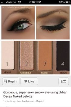 Smokey eye using the Urban Decay Naked Palette