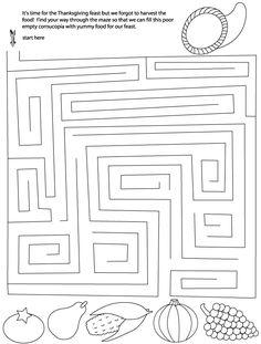 thanksgiving mazes for kids, thanksgiving mazes, free thanksgiving printables, thanksgiving activities
