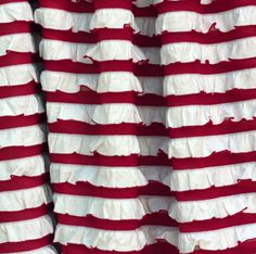 Ruffle Fabric Inch Wide Peppermint Stripe Red and White Cascading Ruffle… Sewing Ruffles, Ruffle Fabric, How To Make Skirt, Red And White Stripes, Little Girl Dresses, Fabric Swatches, Peppermint, Trending Outfits