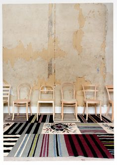 """Herbarium"""" cotton patchwork rug Merged woven """"patches"""" in a play with stripes in different directions in our exciting cotton """"patchwork rug""""..."""