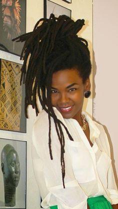 "viva-la-diaspora: ""My hair crush. Free Form Locs, Curly Hair Styles, Natural Hair Styles, Natural Beauty, Beautiful Dreadlocks, Dreadlock Hairstyles, Hair Art, Braid Styles, Textured Hair"