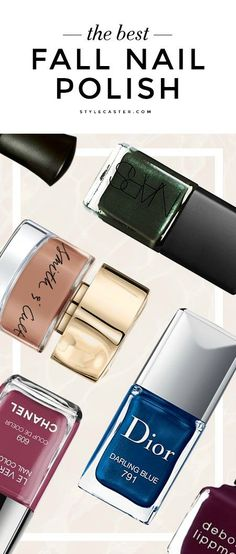 The Best Nail Polish Colors for Fall 2015—we rounded up the best autumn shades to inspire your next manicure. From rich purples to vivid blues, here are the hottest nail colors for fall.
