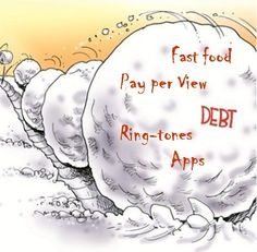 """10 Reasons Americans Keep Falling Back Into Debt.  10. We underestimate the impact of numerous """"little"""" things. Debt can snowball before you know it if you allow numerous """"little"""" things to pile up. So watch out for lots of low-cost things and """"small"""" monthly expenses that eat away at your budget. All those can wind up on your credit cards and increase your debt load.  Find other greater goal setting financial tips on our web site, www.accesseducation.org"""