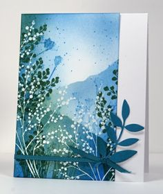"Time for a scenic card,"" I thought as I browsed through my art inspiration board for ideas. The delicate white branches and stems in this pi..."