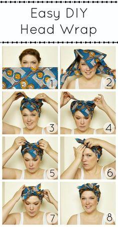 ①ターバン(もしくはスカーフ)を三角折りにして、三角の角の部分が前にくるように頭を包みます。 ②そのまま両端を頭の上で2回結びます。 ③バランスを整えて完成♪ 髪の毛をターバン(もしくはスカーフ)の中にまとめてしまえるのでとっても涼しげなアレンジですね!