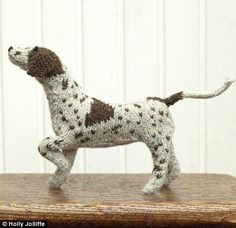Knitted dog, would love to make it if i could knit yet!