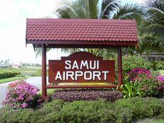 Koh Samui airport, cute!!