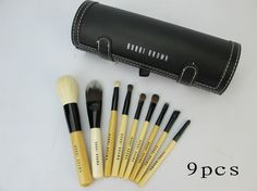 $19.58 bobbi brown 9pcs brushes set with black makeup case