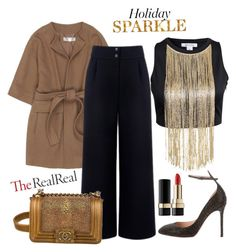 """""""Holiday Sparkle With The RealReal: Contest Entry"""" by anchilly23 ❤ liked on Polyvore featuring STELLA McCARTNEY, Être Cécile, Chanel, Valentino and Dolce&Gabbana"""