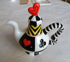 whimsy teapot painted by staff at Color Me Mine Saucon Valley PA