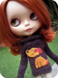 Amazing custom Blythe - check out those lips.  So sweet.