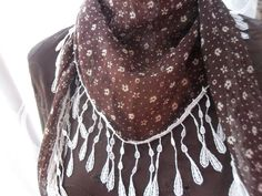 cream/brown scarf w/ lace from styleupyourhome on etsy, very pretty