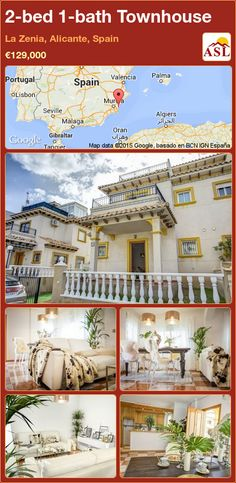 Townhouse for Sale in La Zenia, Alicante, Spain with 2 bedrooms, 1 bathroom - A Spanish Life Valencia, Guest Toilet, Alicante Spain, Patio Seating, Family Bathroom, Double Bedroom, How To Level Ground, Rooftop, Townhouse