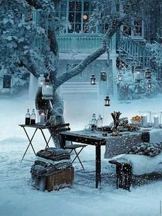 Snow picnic, winter in Stockholm, Sweden....I want to do this, make a bonfire and it's on.