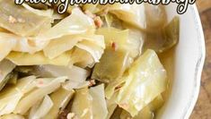 Crock Pot Bacon Green Bean Cabbage - Recipes That Crock! Crockpot Cabbage Recipes, Crock Pot Cabbage, Baked Bean Recipes, Ham And Cabbage, Crockpot Side Dishes, Baked Beans With Bacon, Cooking Fresh Green Beans, Food Dishes, Dishes Recipes