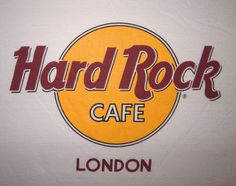 Vintage Hard Rock Cafe London T-Shirt Tee Size Large Cream Color Double-Ring