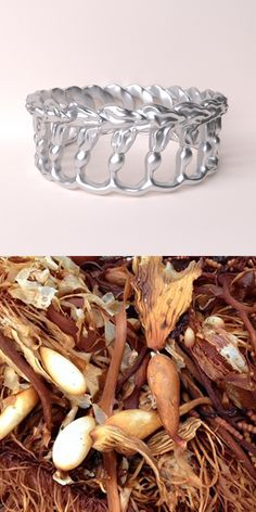 This kelp ring is a work in progress. I think it has a nice Art Nouveau vibe and I can't wait to see it actually 3D-printed. Seaweed-Science Jewelry