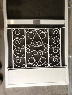 The problem how to stylishly protect screens from being pushed screen door grille decorative protective powder coated finish aluminum island style custom sizes available planetlyrics Gallery
