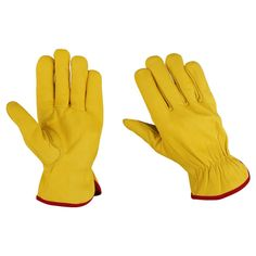 Yellow Drivers Glove  Pack of 5 Pairs
