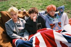 TAEHYUNG 160425 BTS Official Facebook Update <Young Forever Concept Photo> w/ #JIN #JUNGKOOK