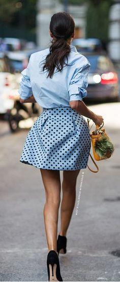 #summer #fashion / polka dot