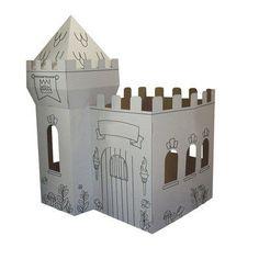 Medieval Castle Kids Playhouse. Indoor Cardboard Playhouses for Kids.