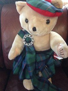 Scotish Loganbearie Bear By Marjorie Flower Of Scotland Tartan 2' Tall    http://www.ebay.com/itm/Scotish-Loganbearie-Bear-Marjorie-Flower-Scotland-Tartan-2-Tall-/261215925072?pt=US_Dolls_Bears_Toys=item3cd1aeb350