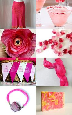 PINK ~ not such a wall Flower by Lindsey on ETSY -- Such a fun summer color!