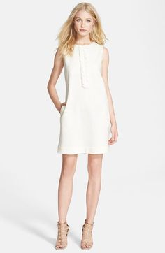 L'AGENCE Ruffle Detail Cotton Blend Dress available at #Nordstrom