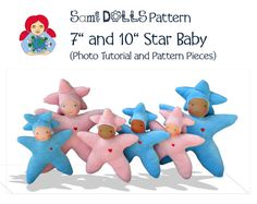 Sami Star Baby Doll 7 and 10 size Pattern and by SamiDolls on Etsy