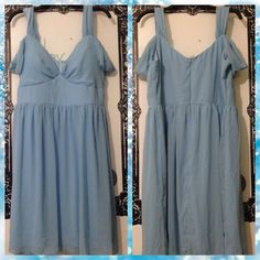Chiffon Mystic Brand Dress Beautiful chiffon style dress by Mystic. Falls beautifully and will make you feel like a princess! Practically new, only worn to try on once, never worn out! Straps can worn off the shoulder or as a tank style. Open to reasonable offers. Mystic Dresses Mini