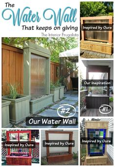 DIY Water Wall Inspiration | The Interior Frugalista