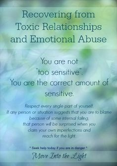 Recovering from Toxic Relationships and Emotional Abuse https://sobreviviendoapsicopatasynarcisistas.wordpress.com/