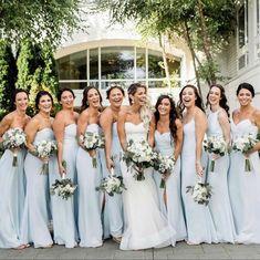 Best Friend Bridesmaid, Wedding Bridesmaids, Wedding Dresses, Bridesmaid Dresses, Blue Wedding, Wedding Colors, Wedding Flowers, Bulk Flowers Online, Best Friend Photography