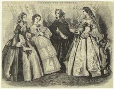Harper's Weekly, September 1857. NYPL Digital Gallery.  Civil War Era Fashion Plate