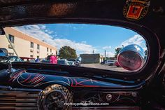 Friday I got to spend some time looking through Big Rich's chopped windshield of his #48Chevy #kustom on the #StarlinerGarageKrawl #Starliner