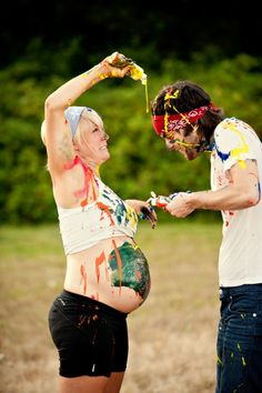 Non-cheesy maternity shoot ideas