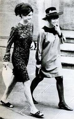 Mia Fonssagrives & Vicky Tiel, fashion designers 1960's