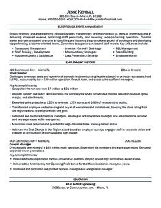 Retail Store Manager Resume If You Want To Propose A Job In Land Property You Should Make A