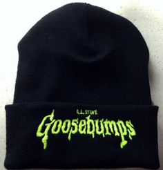 Goosebumps beanie ghost stories kids books by inkedupmerch on Etsy