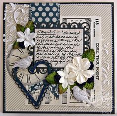 Hymn Challenge #6: Come, Thou Fount of Every Blessing using BFS Heart Set chipboard.