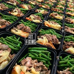 Beef Pot Roast served with roasted red potatoes carrots onions and a side of fresh steamed green beans WWW.FITFIXINS.NET We Specialize in Making Homestyle Favorites Healthy 7725191271 by fitfixins