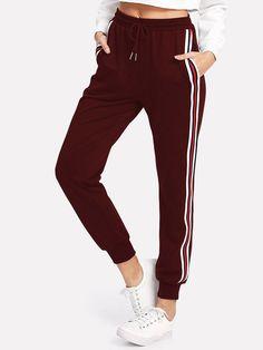 UUYUK Men Elastic Waist Cotton Drawstring Multi-Pockets Rugged with Zip Deco Cargo Jogger Pants Trousers